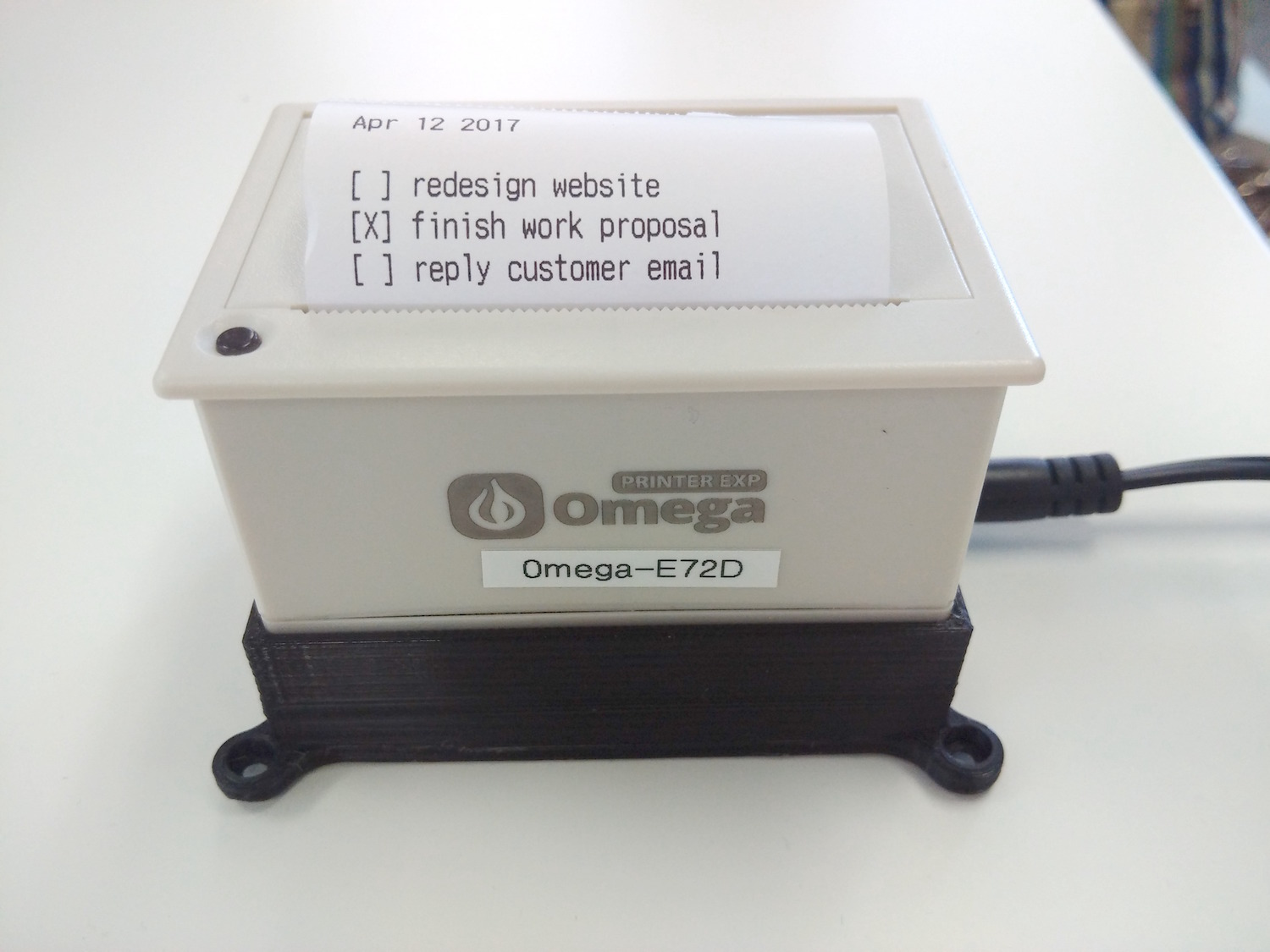 Thermal Printer | Onion Omega2 Project Book Vol  1